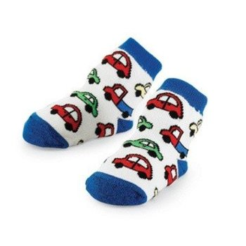 Mud Pie Blue Car Socks