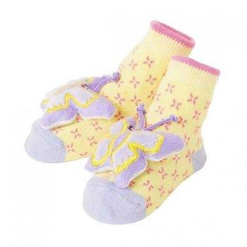 C.R. Gibson Butterfly Rattle Socks