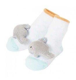 C.R. Gibson Whale Rattle Socks