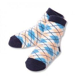 C.R. Gibson Blue Pleated Socks