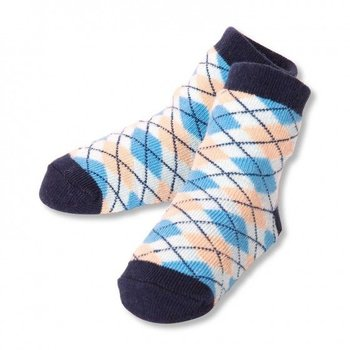 C.R. Gibson Blue Plaid Socks