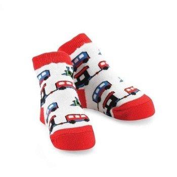 Mud Pie Red Car Socks