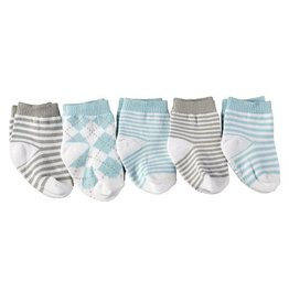 Mud Pie Blue Baby Basics Sock Set
