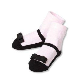 C.R. Gibson Black Maryjane Socks