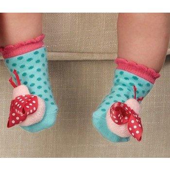 Mud Pie Ladybug Rattle Socks