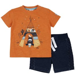 Petit Lem Teepee Bear 2PC Set