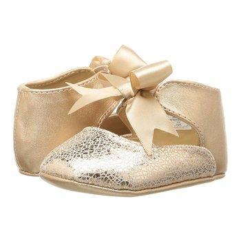 Baby Deer Rose Gold Flats with Ankle Straps