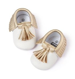 Ivory and Gold Moccasins