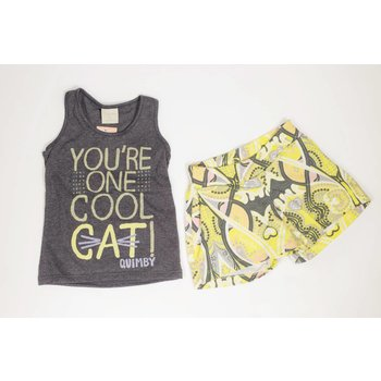 Quimby You're One Cool Cat Short Set Tween