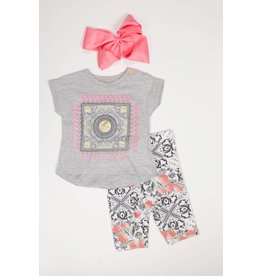 Up Baby Lucky Coin Tassel Tee and Legging Set