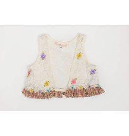 Baby Sara Flower Fringe Vest