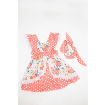 Serendipity Clothing Co Lace, Bow, Floral Polka Dot Dress