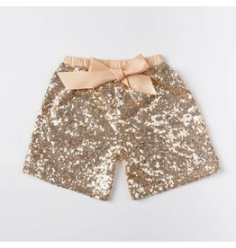 Jujubee Bowtique Gold Sequin Shorts