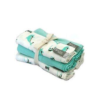 KYTE Aqua Reef Washcloths