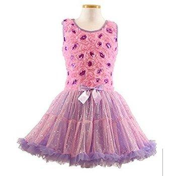 Popatu Pink/Purple Shining Petti Dress