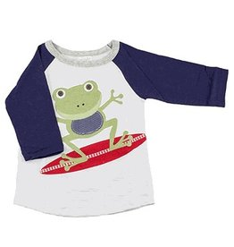 Mud Pie Surfing Frog Raglan
