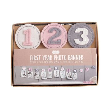 Mud Pie Pink First Year Photo Holder
