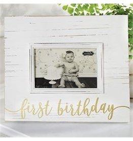 Mud Pie First Birthday Gold Frame
