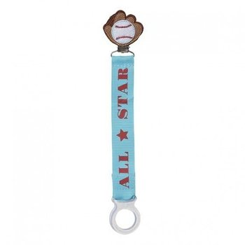 C.R. Gibson All Star Baseball Paci Clip
