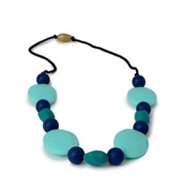 Chewbeads Blue And Teal Necklace