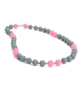 Chewbeads Pink Gray Chewbeads Necklace