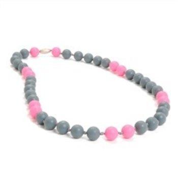 Chewbeads Pink Gray Chewbeads Necklace