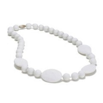 White Chewbeads Necklace (Plates & Circles)
