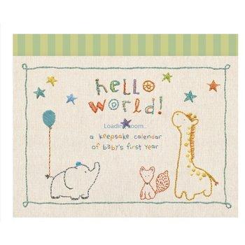 C.R. Gibson Keepsake Calendar Hello World!