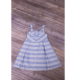 Rare Editions Blue Striped Dress
