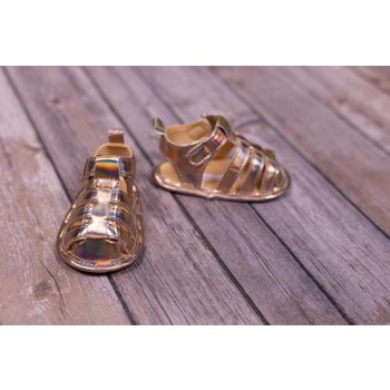 Laura Ashley Metallic Rose Gold Sandals