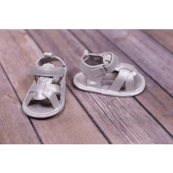 Laura Ashley Silver Open Toed Sandals