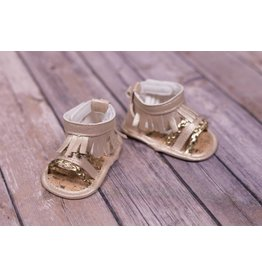 Laura Ashley Light Gold With Gold Braid Sandal