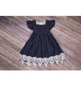 Adora-Bay Denim Lace Dress