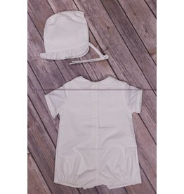 Mom & Me White Smocked Shortall