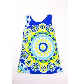 Rare Editions Berry  Medallion Print Shift  Dress