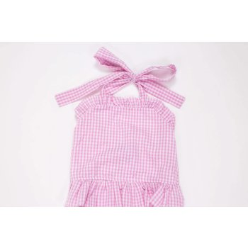 Three Sisters Pink Gingham  Swimsuit
