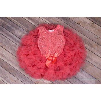 Popatu Peach Sequin Petti Dress