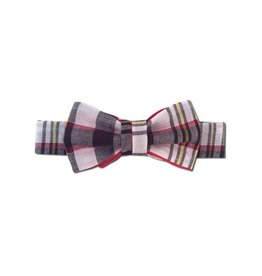 Juxby White Brown Yellow Plaid Bowtie