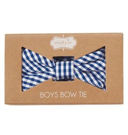 Mud Pie Boxed Gingham Bow Tie