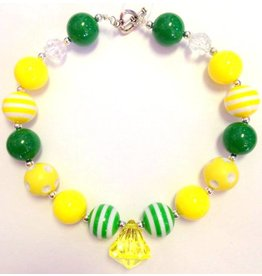 Kelly Green and Yellow Chunky Necklace