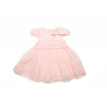 Mae Li Rose Pink Lace Dress