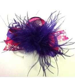 Reflectionz Purple & Pink Birthday Feather Bow