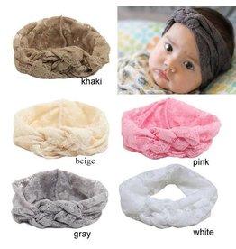 Lace Criss Cross Turban Knot Headband