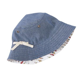 Mud Pie Fish Reversible Sun Hat