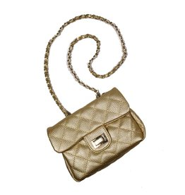 Mae Li Rose Gold Quilted Purse
