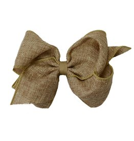 Wee Ones Large Burlap and Glitter Bow
