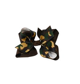 One Stop Bow Shop Camo Print Ribbon Hair Bow