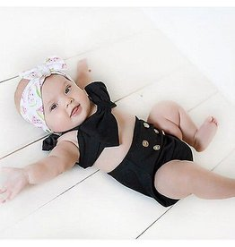 Black Bathing Suit With Watermelon Headband