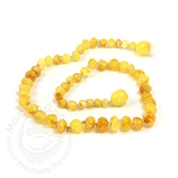 Momma Goose Baroque Milky Amber Teething Necklace