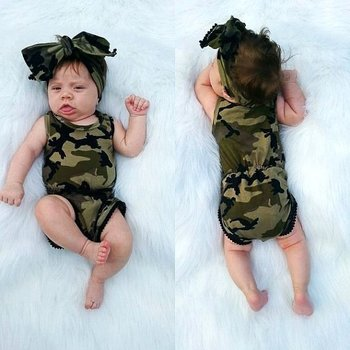 Camo Romper with Headband